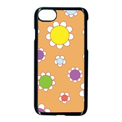 Floral Flowers Retro 1960s 60s Apple Iphone 8 Seamless Case (black)