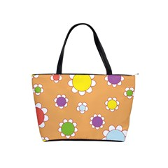 Floral Flowers Retro 1960s 60s Shoulder Handbags