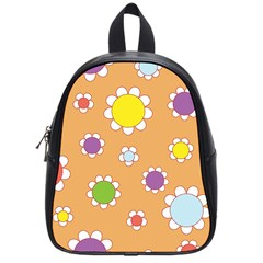 Floral Flowers Retro 1960s 60s School Bag (small)