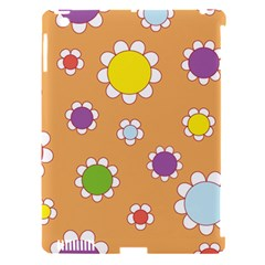 Floral Flowers Retro 1960s 60s Apple Ipad 3/4 Hardshell Case (compatible With Smart Cover) by Celenk