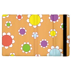 Floral Flowers Retro 1960s 60s Apple Ipad 2 Flip Case by Celenk