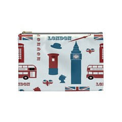 London Icons Symbols Landmark Cosmetic Bag (medium)
