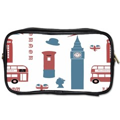 London Icons Symbols Landmark Toiletries Bags 2 Side