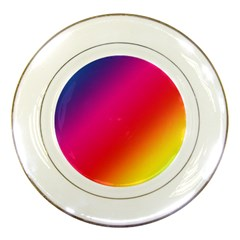 Spectrum Background Rainbow Color Porcelain Plates