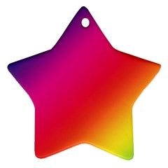 Spectrum Background Rainbow Color Star Ornament (two Sides)