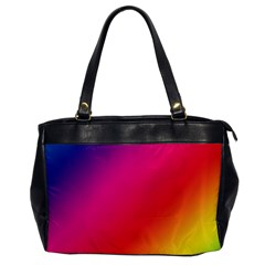 Spectrum Background Rainbow Color Office Handbags by Celenk