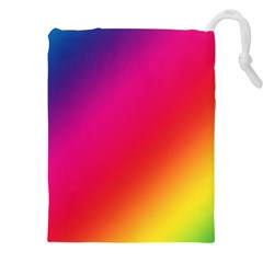 Spectrum Background Rainbow Color Drawstring Pouches (xxl) by Celenk