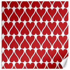 Hearts Pattern Seamless Red Love Canvas 12  X 12