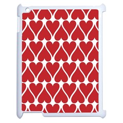 Hearts Pattern Seamless Red Love Apple Ipad 2 Case (white)