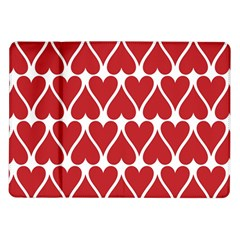 Hearts Pattern Seamless Red Love Samsung Galaxy Tab 10 1  P7500 Flip Case