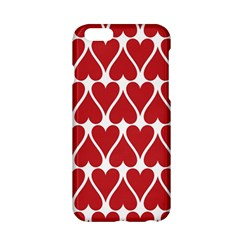 Hearts Pattern Seamless Red Love Apple Iphone 6/6s Hardshell Case by Celenk