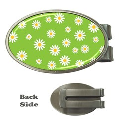 Daisy Flowers Floral Wallpaper Money Clips (oval)