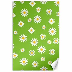 Daisy Flowers Floral Wallpaper Canvas 24  X 36
