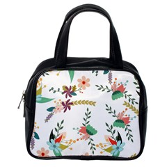 Floral Backdrop Pattern Flower Classic Handbags (one Side)