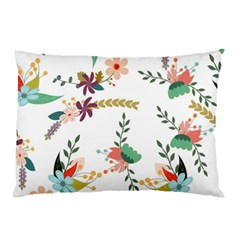 Floral Backdrop Pattern Flower Pillow Case (two Sides)