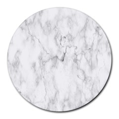 White Background Pattern Tile Round Mousepads by Celenk