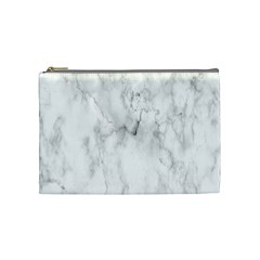 White Background Pattern Tile Cosmetic Bag (medium)