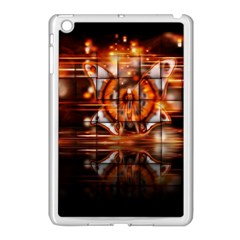Butterfly Brown Puzzle Background Apple Ipad Mini Case (white)