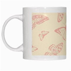 Butterfly Butterflies Vintage White Mugs