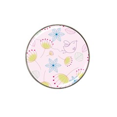 Floral Background Bird Drawing Hat Clip Ball Marker (4 Pack) by Celenk