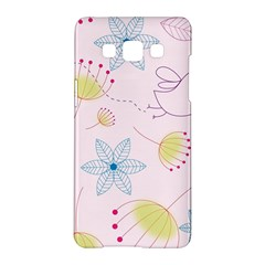 Floral Background Bird Drawing Samsung Galaxy A5 Hardshell Case
