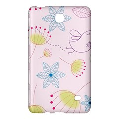 Floral Background Bird Drawing Samsung Galaxy Tab 4 (8 ) Hardshell Case