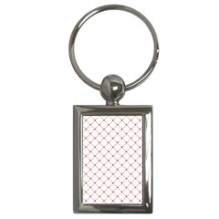 Hearts Pattern Love Design Key Chains (rectangle)