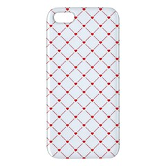 Hearts Pattern Love Design Apple Iphone 5 Premium Hardshell Case
