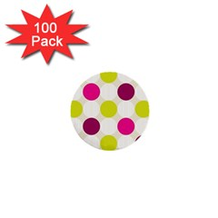 Polka Dots Spots Pattern Seamless 1  Mini Buttons (100 Pack)  by Celenk