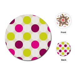 Polka Dots Spots Pattern Seamless Playing Cards (round)  by Celenk