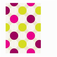 Polka Dots Spots Pattern Seamless Large Garden Flag (two Sides) by Celenk