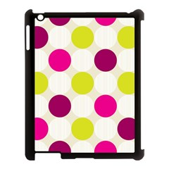 Polka Dots Spots Pattern Seamless Apple Ipad 3/4 Case (black) by Celenk
