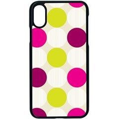 Polka Dots Spots Pattern Seamless Apple Iphone X Seamless Case (black) by Celenk