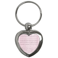 Vintage Pink Music Notes Key Chains (heart)  by Celenk
