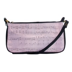 Vintage Pink Music Notes Shoulder Clutch Bags by Celenk