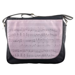 Vintage Pink Music Notes Messenger Bags by Celenk