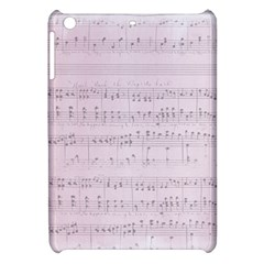 Vintage Pink Music Notes Apple Ipad Mini Hardshell Case by Celenk