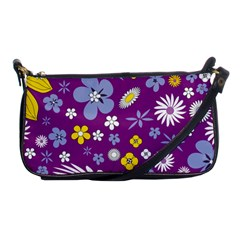 Floral Flowers Wallpaper Paper Shoulder Clutch Bags