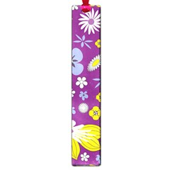 Floral Flowers Wallpaper Paper Large Book Marks by Celenk