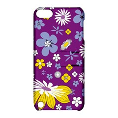 Floral Flowers Wallpaper Paper Apple Ipod Touch 5 Hardshell Case With Stand by Celenk