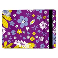Floral Flowers Wallpaper Paper Samsung Galaxy Tab Pro 12 2  Flip Case by Celenk
