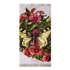 Vintage Butterfly Flower Shower Curtain 36  X 72  (stall)