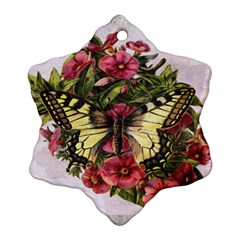 Vintage Butterfly Flower Ornament (snowflake)