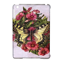 Vintage Butterfly Flower Apple Ipad Mini Hardshell Case (compatible With Smart Cover) by Celenk