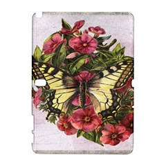 Vintage Butterfly Flower Galaxy Note 1 by Celenk