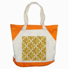 Gold Pattern Wallpaper Fleur Accent Tote Bag by Celenk