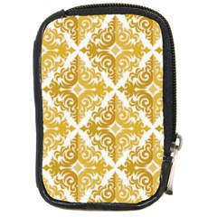 Gold Pattern Wallpaper Fleur Compact Camera Cases