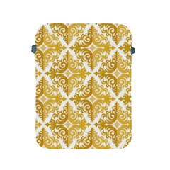 Gold Pattern Wallpaper Fleur Apple Ipad 2/3/4 Protective Soft Cases