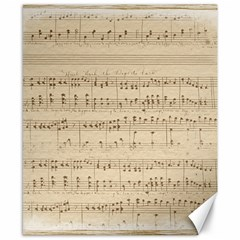 Vintage Beige Music Notes Canvas 8  X 10  by Celenk