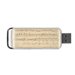 Vintage Beige Music Notes Portable Usb Flash (two Sides) by Celenk